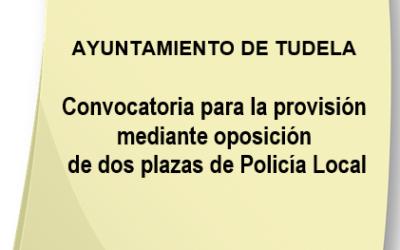 Convocatoria para la provisión, mediante oposición, de dos plazas de Policía Local