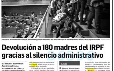 Devolución a 180 madres del IRPF gracias al silencio administrativo