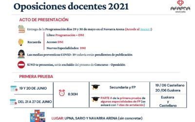 OPE 2021: Acto de presentación y primera prueba