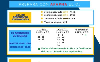 Necesitas un B2 o un C1 de inglés? Apúntate al curso de preparación de APTIS!