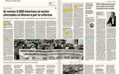 Al menos 5.000 interinos se verían afectados en Navarra por la reforma